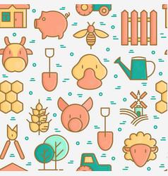 organic farming seamless pattern vector image