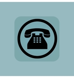 Pale blue phone sign vector image