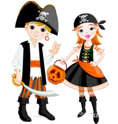 Pirate couple vector