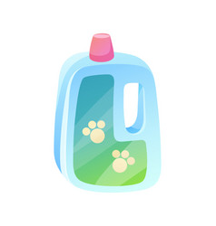 plastic bottle and paws traces vector image