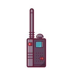 portable transceiver or radio set icon vector image