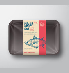 Premium quality tuna pack abstract fish vector