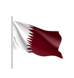 qatar national flag realistic vector image
