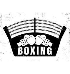 Retro emblem for boxing vector