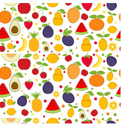 seamless pattern with summer fruits seamless vector image