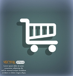 Shopping Cart sign icon Online buying button On vector