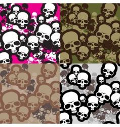 skulls camouflage vector image