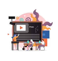 smart education technology concept for web vector image