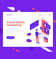social media marketing people and interact vector image