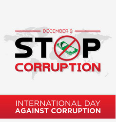 Stop corruption for international day against vector