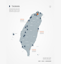 Taiwan infographic map vector