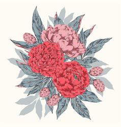 vintage floral bouquet vector image