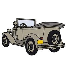 Vintage military car vector