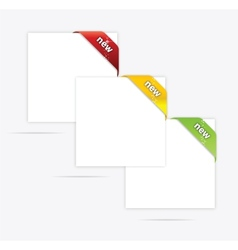 web paper blank set vector image