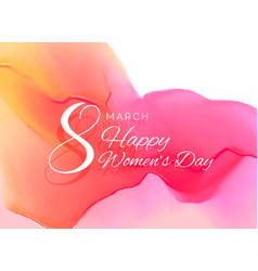 womans day celebration greeting card design with vector image