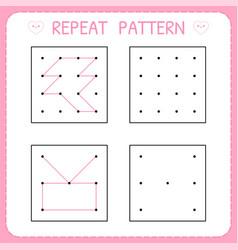 Worksheet for kindergarten and preschool repeat vector
