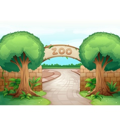 a zoo vector image vector image