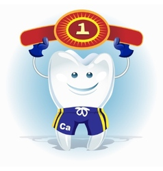 champion tooth vector image vector image
