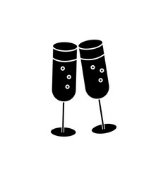 cheers wine glasses icon vector image