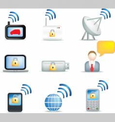 communicate icons vector image vector image