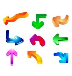 Glossy Arrow vector image vector image