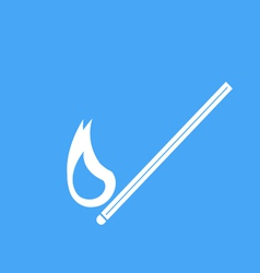 icons burning match vector image