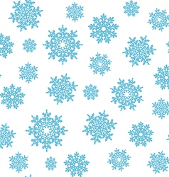 Snowflakes seamless pattern background for vector image vector image