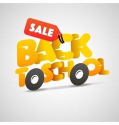 Back to school sale logo schoolbus vector image
