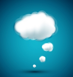 computer cloud on the blue background vector image vector image