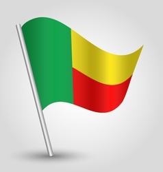 flag benin vector image