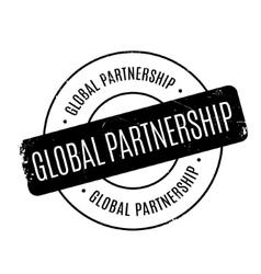 Global partnership rubber stamp vector