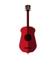 guitar flat shadow vector image