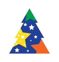 Modern Christmas Tree Icon vector image