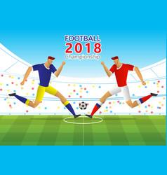 football 2018 championship vector image