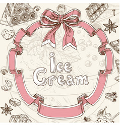 Ice cream sweet background vector image vector image