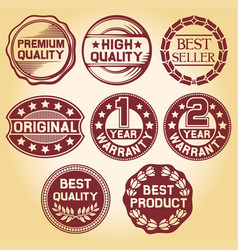 labels and rubber stamp vector image