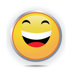 laughing icon vector image