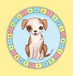 puppy frame vector image