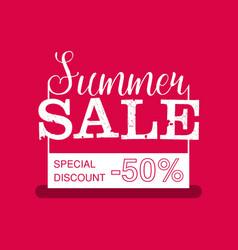 Summer Sale banner Vintage design vector image vector image