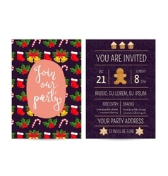 Bright Promotion Flyer for Club Christmas Party vector image vector image