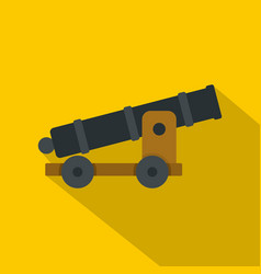 cannon icon flat style vector image