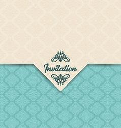 Decorative invitation design vector image