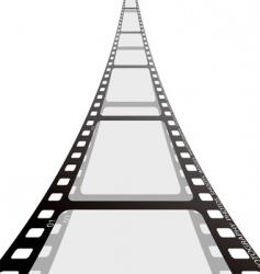 film strip reel vector image