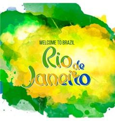 nscription Rio de Janeiro Brazil vacation vector image