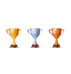 Set of winners award for first second and third vector image