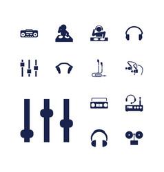 13 dj icons vector