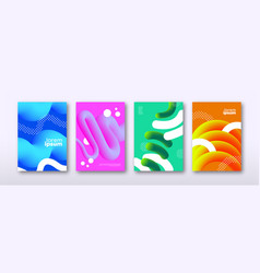 abstract 3d colorful background template set vector image