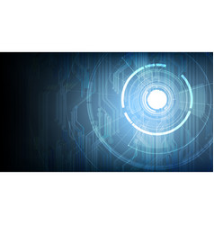 abstract technological touch signal background vector image