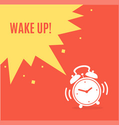 alarm clock concept banner flat design style vector image