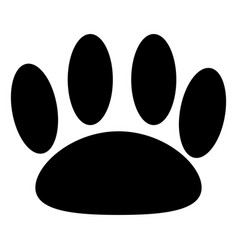 Animal trail black color icon vector